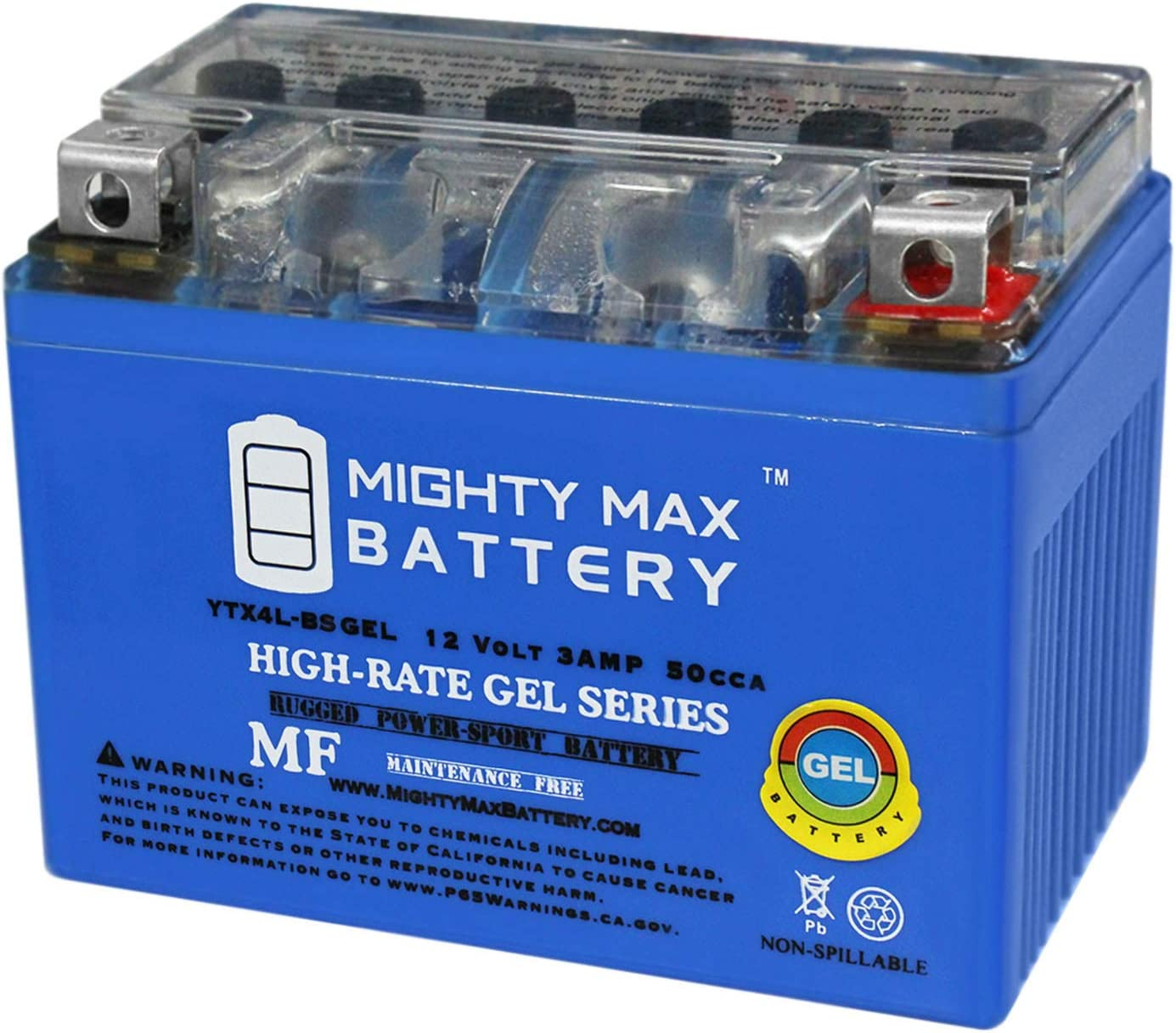ytx4l-bs 12 V 3 Ah Gelバッテリーforホンダtg50ジャイロSスクーター – Mighty Maxバッテリーブランド製品