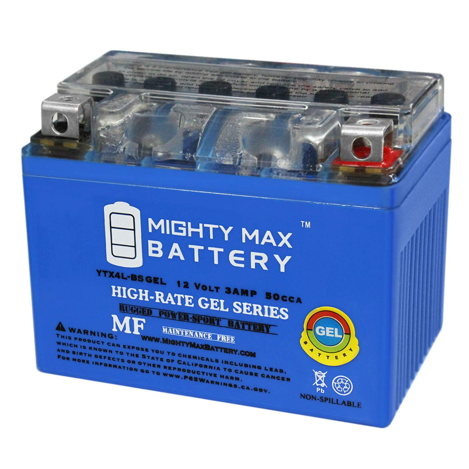 Mighty Max Battery YTX4L-BS 12V 3Ah Gel Battery for Scooter SYM DD 50CC 09 Brand Product by Mighty Max Battery