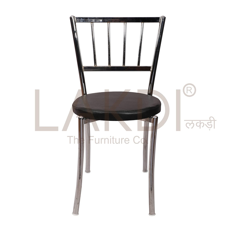 lakdi Pu leatheriteite Chrome Base Legs Cafe Chair Ideally for
