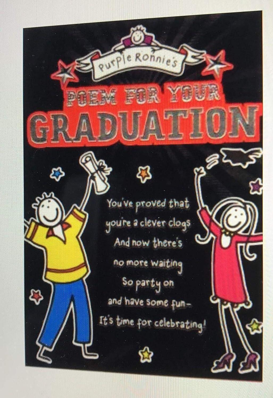 Color de la graduación de Ronnie poema, felicidades mes ...