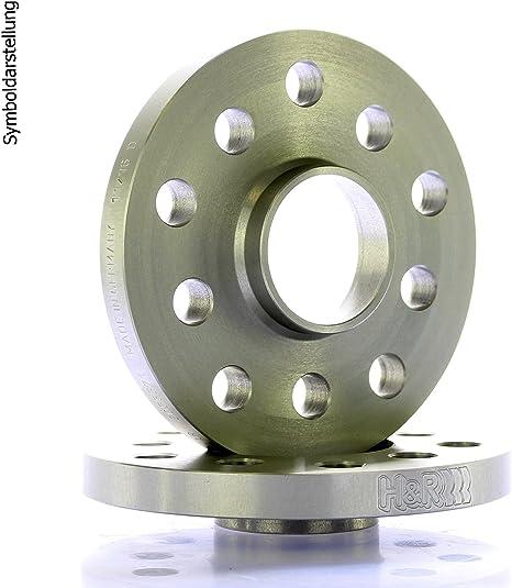 H R Dr Spurplatten Spurverbreiterung Distanzscheiben Ringe 5x112 20mm 2x10mm Bremsenreiniger Auto