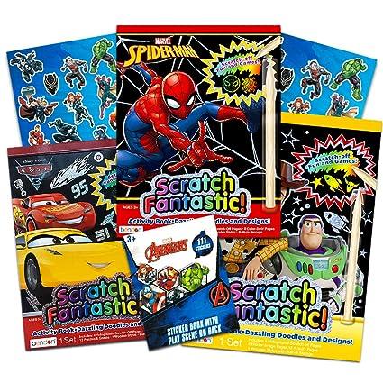 Amazon.com: Superhéroe Scratch Art para niños – 3 libros de ...