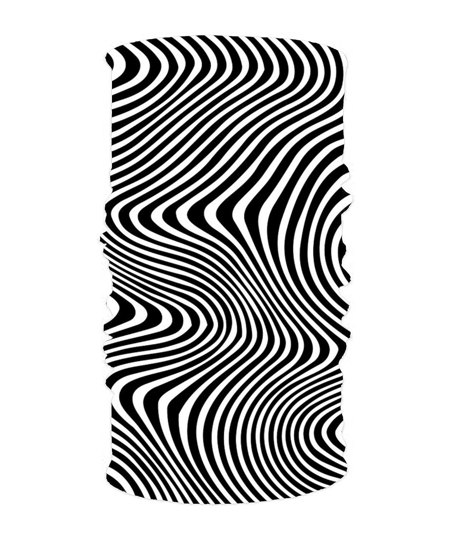 Northsky水世界万能Headwearファッションソフトフィットヘッドラップスカーフフリーサイズ  Illusion Waves24 B07DLQZKLQ