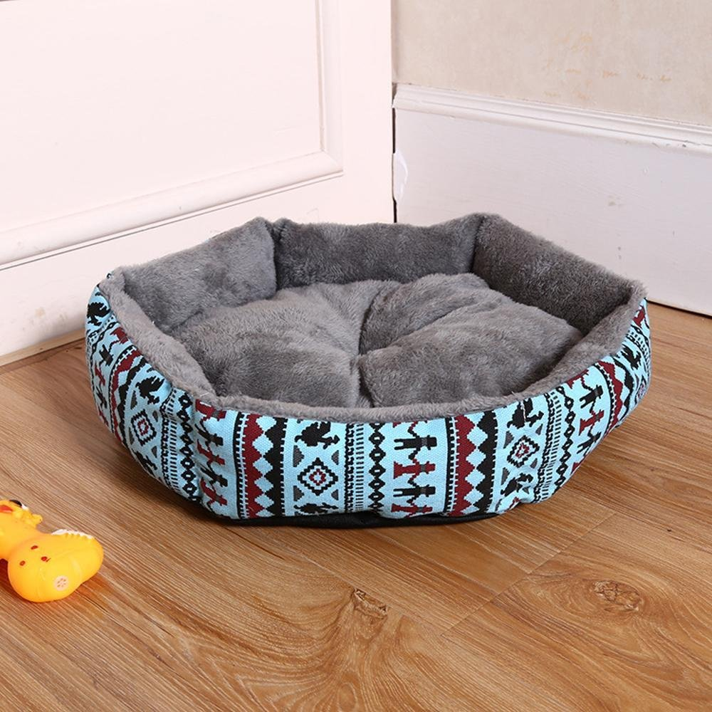 B 404011cm B 404011cm BiuTeFang Pet Bolster Dog Bed Comfort Pet Seat mat Comfort printing canvas removable and washable kennel