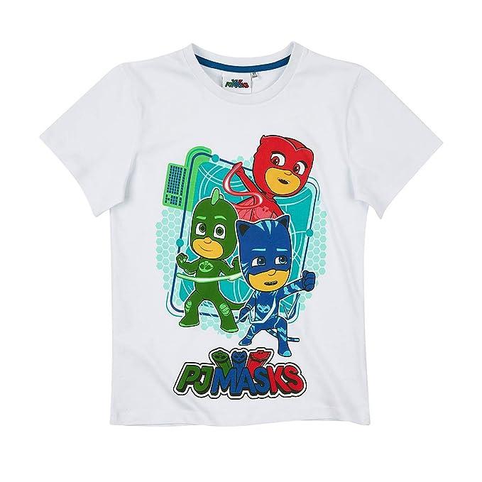 PJ Masks Chicos Camiseta manga corta - Blanco - 128
