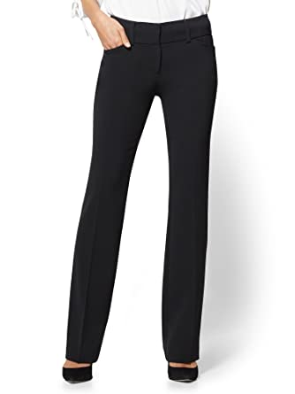 a612e6ff6f8 7Th Avenue Tall Pant - Barely Bootcut Double 0 Black at Amazon Women s  Clothing store