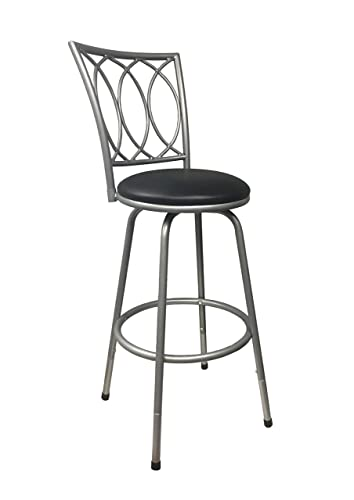 Redico Counter-to-Bar Height Adjustable 360 Degree Swivel Metal Bar Stool