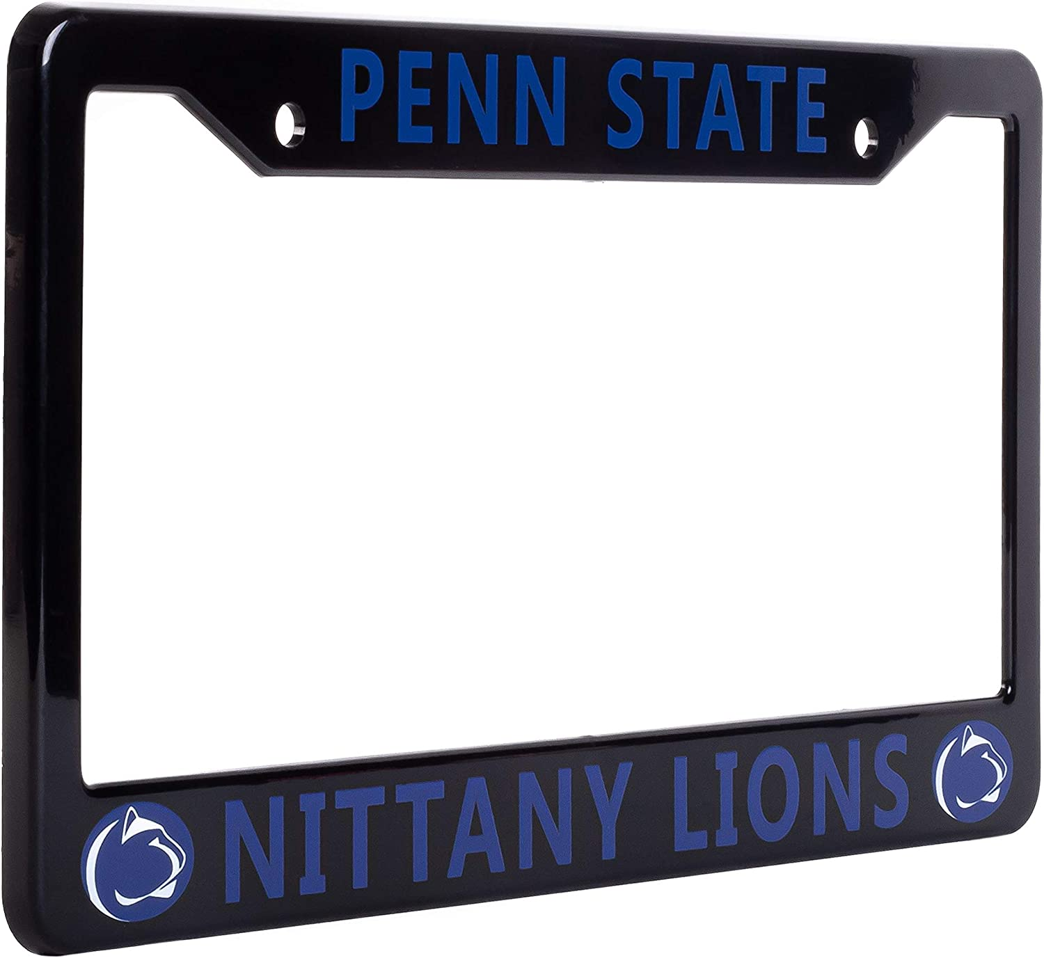 "Ideal Gift for Sports Fans /& Supporters NCAA Car Accessory Black EliteAuto3K Penn State Nittany Lions License Plate Frame Cover 12.25/"" x 6.25/"" Slim Design"