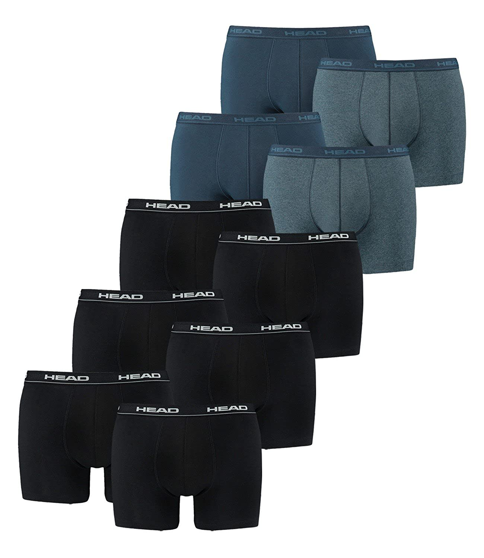 HEAD Hommes Boxer Boxer-shorts Sous-vêtement Pack De 10 En Beaucoup De Couleurs 841001001