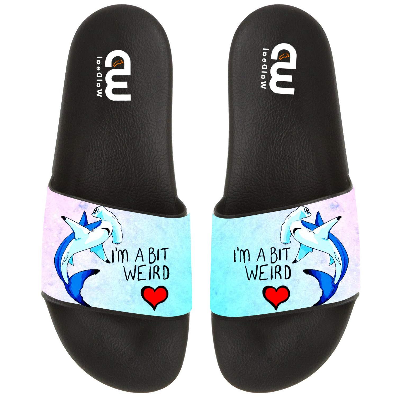 im a bit weird shark Funny shark Summer Slide Slippers For Men Women Kid Indoor Open-Toe Sandal Shoes