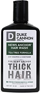 product image for Duke Cannon Supply Co. - News Anchor Hair Wash Shampoo and Conditioner, Tea Tree (10 oz) 2-in-1 Shampoo Conditioner Combo for Thick Healthy Hair - Tea Tree