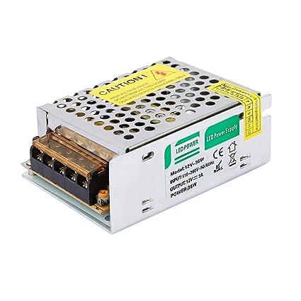 Liqoo 3A 36W Transformador LED Trafo del Conductor Elétrico Fuente de Alimentación LED Driver AV 110V