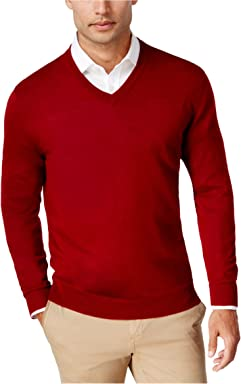 Club Room Mens Wool Casual V-Neck Sweater