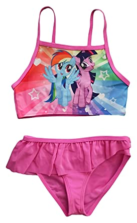 0eaaf50fc118d MLP Official Licensed My Little Pony Girls Swimming Costume: Amazon.co.uk:  Clothing
