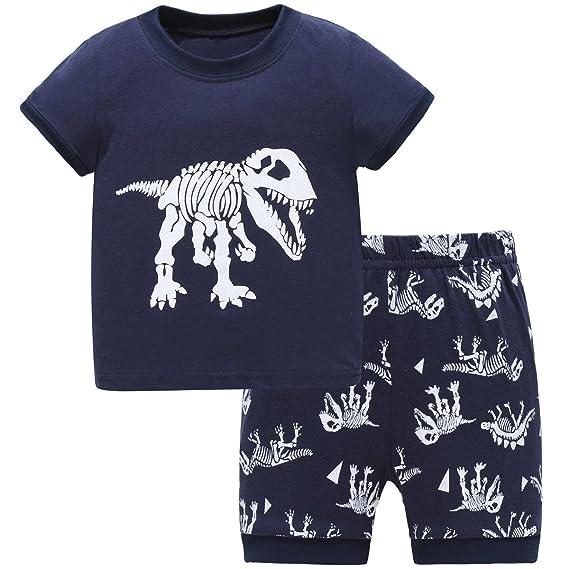 hugbug niños dinosaurios juego de pijama 2 - 7 años: Amazon.es: Ropa y accesorios