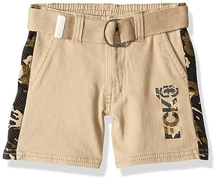 564d78669d Ecko Boys' Toddler' Belted Twill Short, Side Camo Print Brown ...