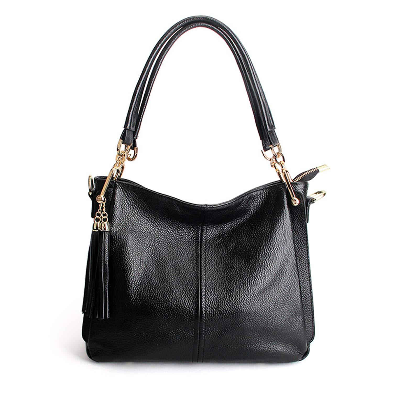 Black Women Tote Bags Handbags Women Famous Casual Crossbody Bag Soft Genuien Leather Women Messenger Bag Shoulder Bags