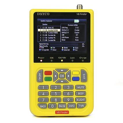 V8 Satellite Finder Digital TV Finder Meter with 3 5