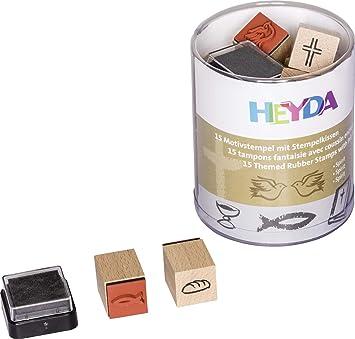 15er Stempelkissen Pirat Heyda Motivstempel Holzstempel Piraten Und Raumfahrer Spielzeug Sets