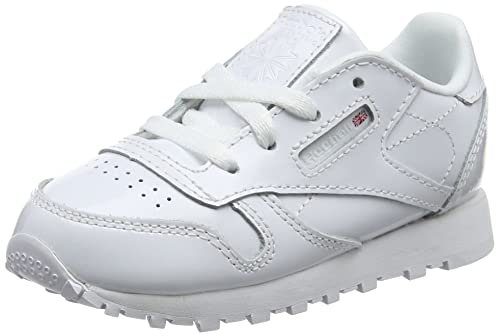 Baby Classic Leather Patent Trainers, White (White 0), 18-24 Months 22.5 EU Reebok