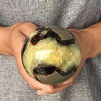KELE Bola de cristal de cuarzo natural de la esfera septaria del dragón