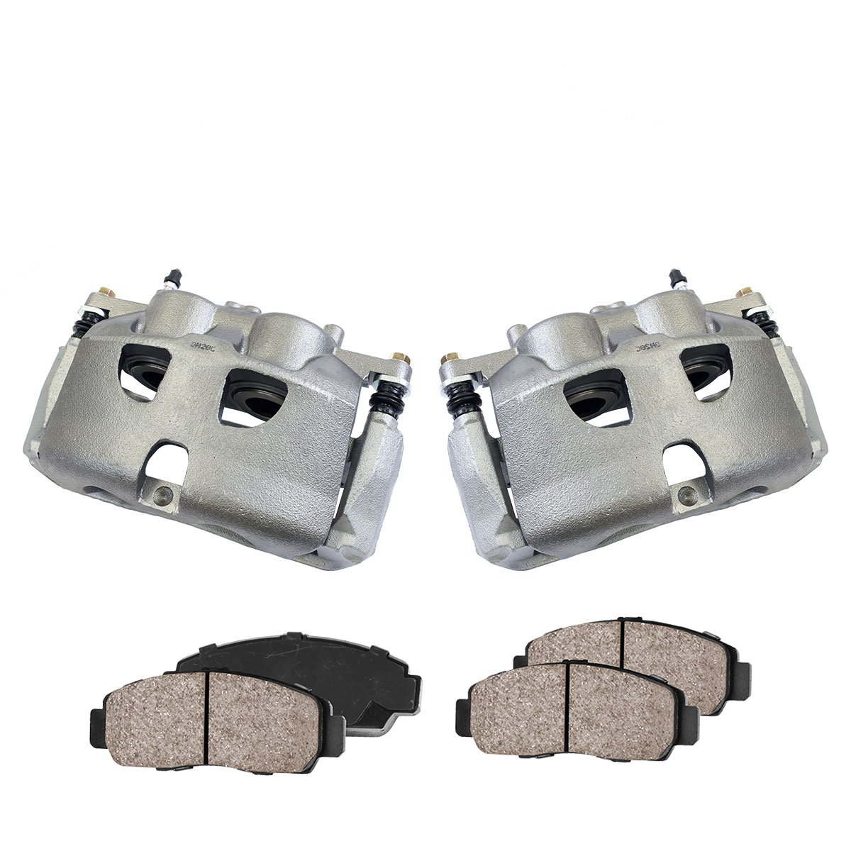 CCK02783 [2] FRONT Premium Loaded OE Caliper Assembly Set + [4] Quiet Low Dust Ceramic Brake Pads Callahan Brake Parts