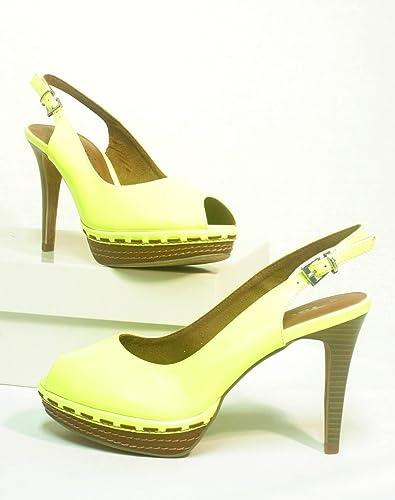 Tamaris Damen Sling gelb: : Schuhe & Handtaschen