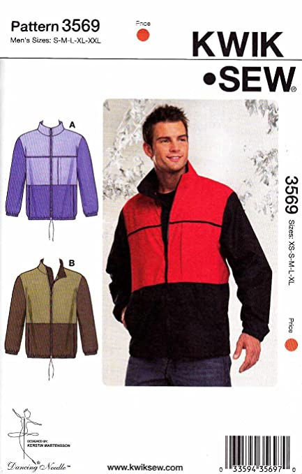 Amazon.com: Kwik Sew Men\'s Windbreaker Jackets Pattern By The Each