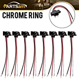 8x Truck Trailer Molded 3 Prong Pigtail Harness Stop Turn Tail Brake Backup Light