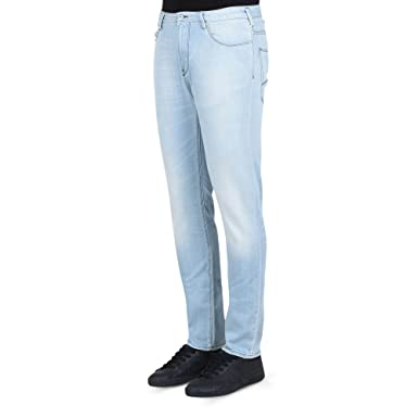 81e89fc3660 Amazon.com  ARMANI JEANS 3Y6J06 6D14Z Slim Fit J06 Light Wash Jeans W36 -  L34 Light Wash  Clothing