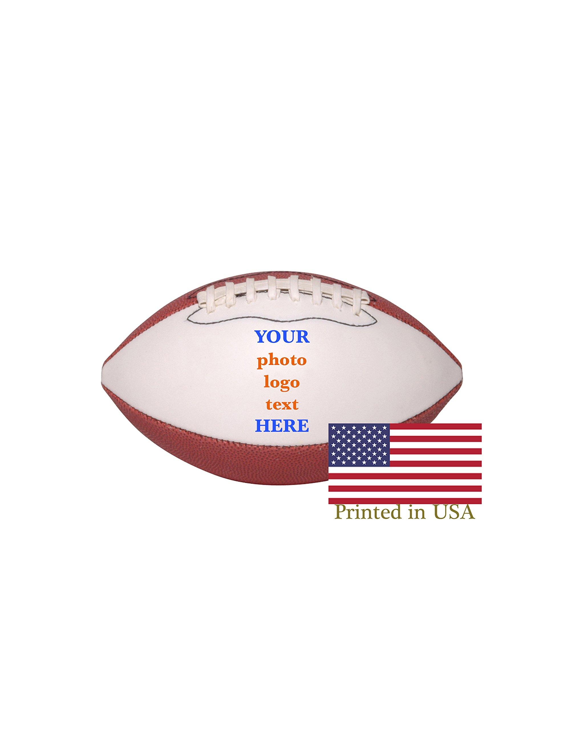Custom Personalized Mini Football 6 Inch Football Shipped Next Day, High Resolution Photos, Logos & Text on Football Balls Trophies, Personalized Gifts
