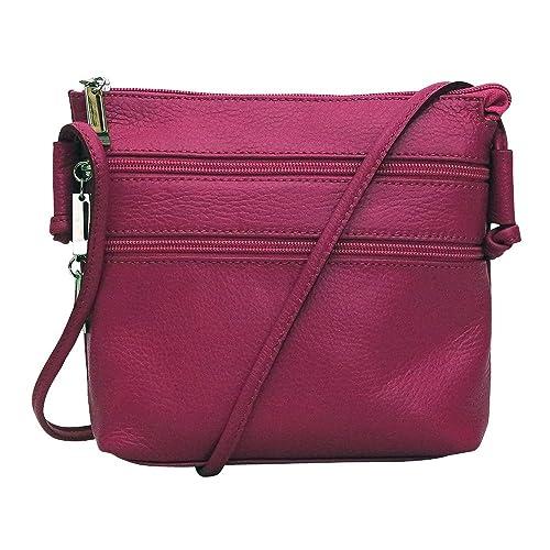 6263a4c468 Chapeau-tendance - Petit sac bandoulière cuir fushia - - Femme ...