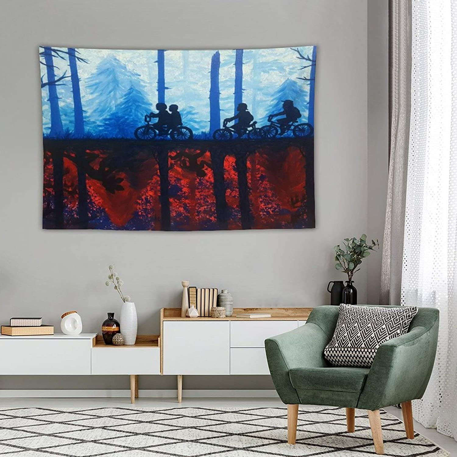 Tapestry Wall Decor Cool Things To Paint Cool Your Boyfriend Stranger Tapestry For Bedroom Dorm Bathroom Home Hanging Blanket Line Art Living Room Decoration 50''×60''