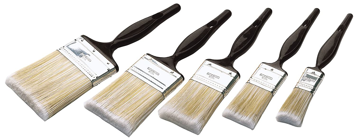 Silverline Synthetic Brush Set 5pce 5pce Decorating DIY Tool