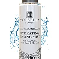 Organic Anti-Aging Hydrating Toner for Face - Best Rose Water, Witch Hazel & Aloe...