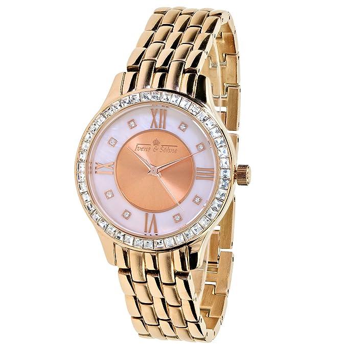reloj cuarzo cristal-bisel chapado en oro rosahttps://amzn.to/2Z95ZVM