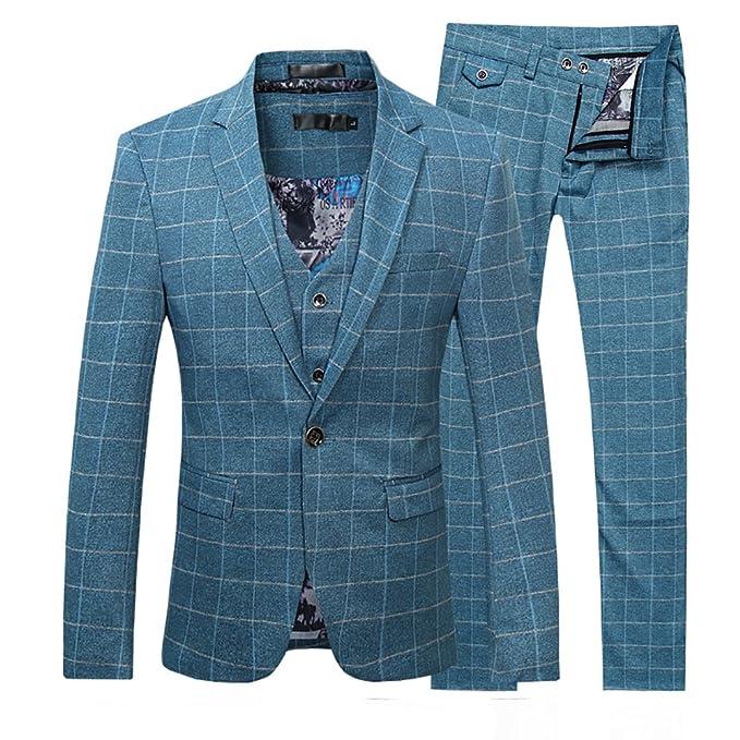 Traje para hombre compuesto por chaqueta y pantalón, talle ajustado, esmoquin para cena informal, de calidad suprema: Amazon.es: Ropa y accesorios