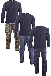 M XL XL 2XL 3XL Herren Lange Pyjama Schlafhose /& T-shirt Schlafanzug Nachthemd