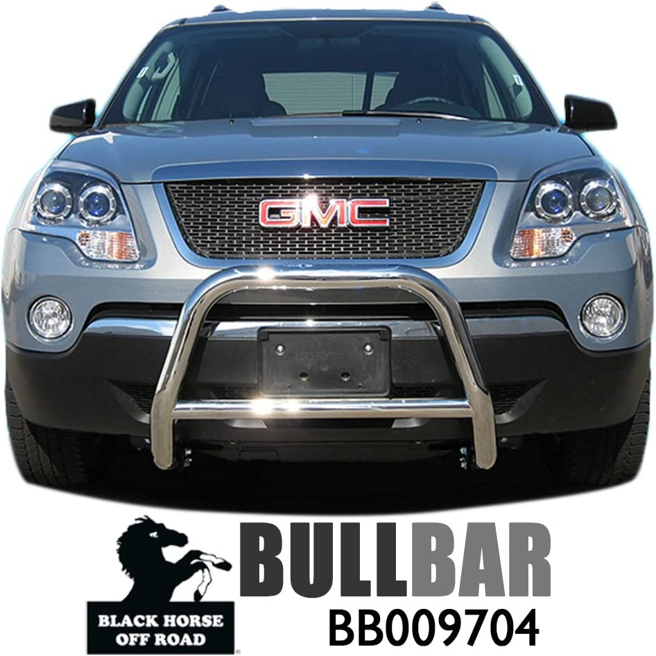 Black Horse Off Road BB009704SS Stainless No skid plate 1 piece Bumper Push Bar A Bar