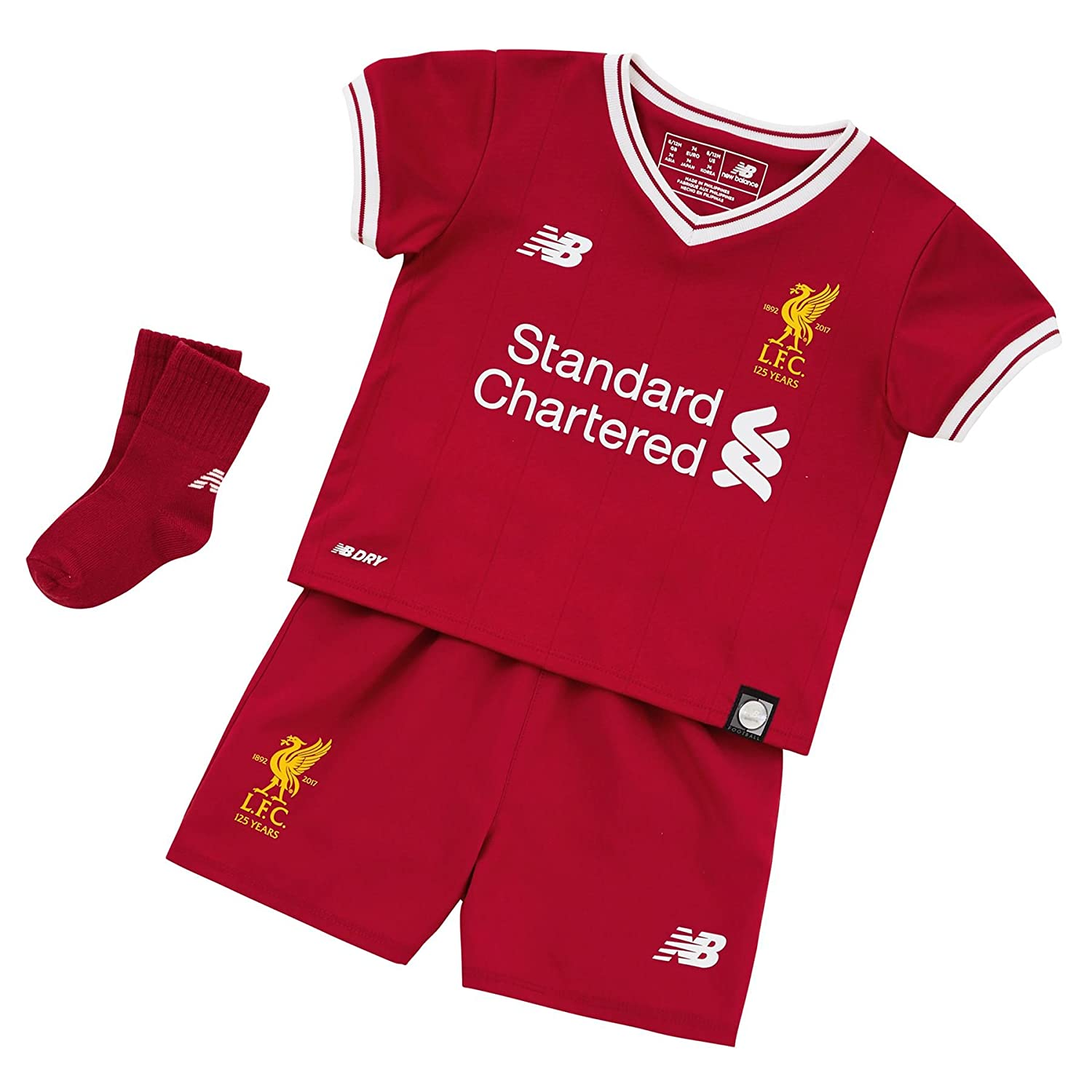 1b7fb4c9fbf Liverpool FC 17 18 Home Infant Football Kit - Red - size 3-6M   Amazon.co.uk  Clothing
