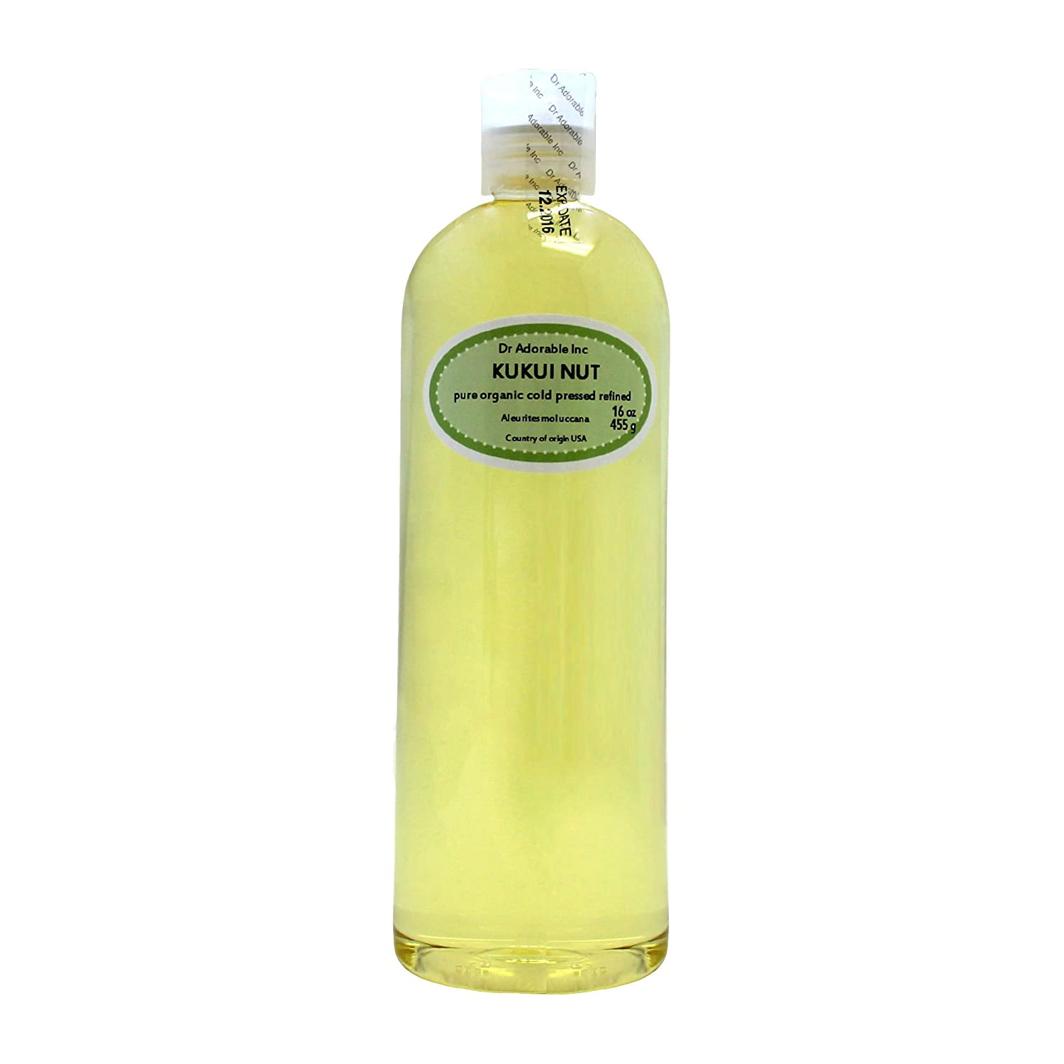 Organic Pure Carrier Oils Cold Pressed 16 Oz/1 Pint (Kukui Nut Oil)