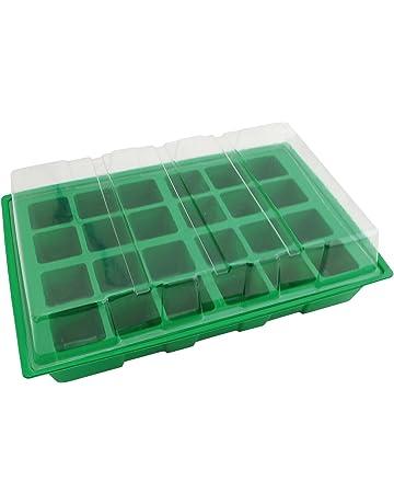 Biotop Kit semillero de plástico de 24 macetas de 4 x 4 cm (con Tapa