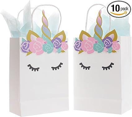 Amazon.com: Quokkaloco - Bolsas de fiesta de unicornio para ...