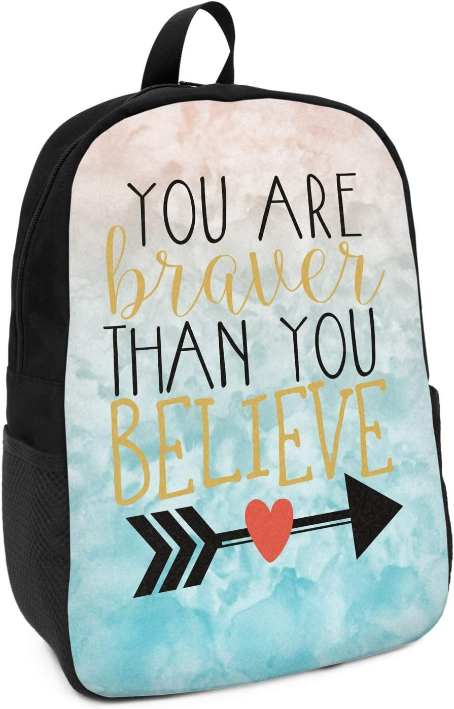 Inspirational Quotes Kids Backpack Personalized
