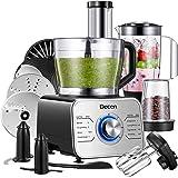 Decen 1100W Procesador de Alimentos/ Robot de Cocina con 14 Accesorios, 3 Modos de Velocidad y Funciones de Pulso…