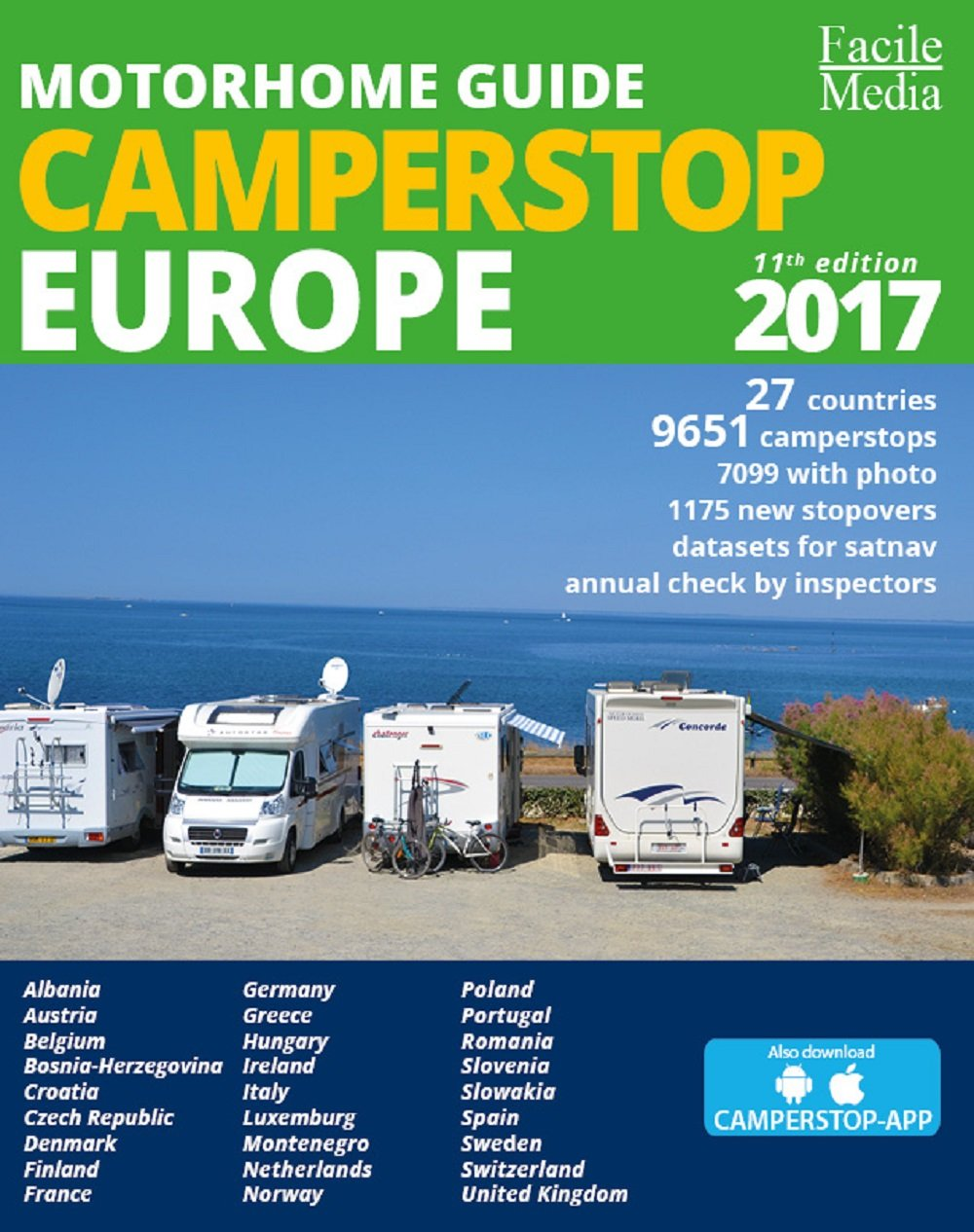 Motorhome Guide Camperstop Europe 27 Countries 2017