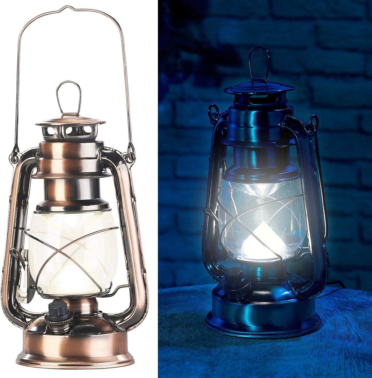 Bronze Lunartec Lampe-temp/ête LED Rechargeable /à intensit/é Variable 200lm/// 3W/// 3000K/