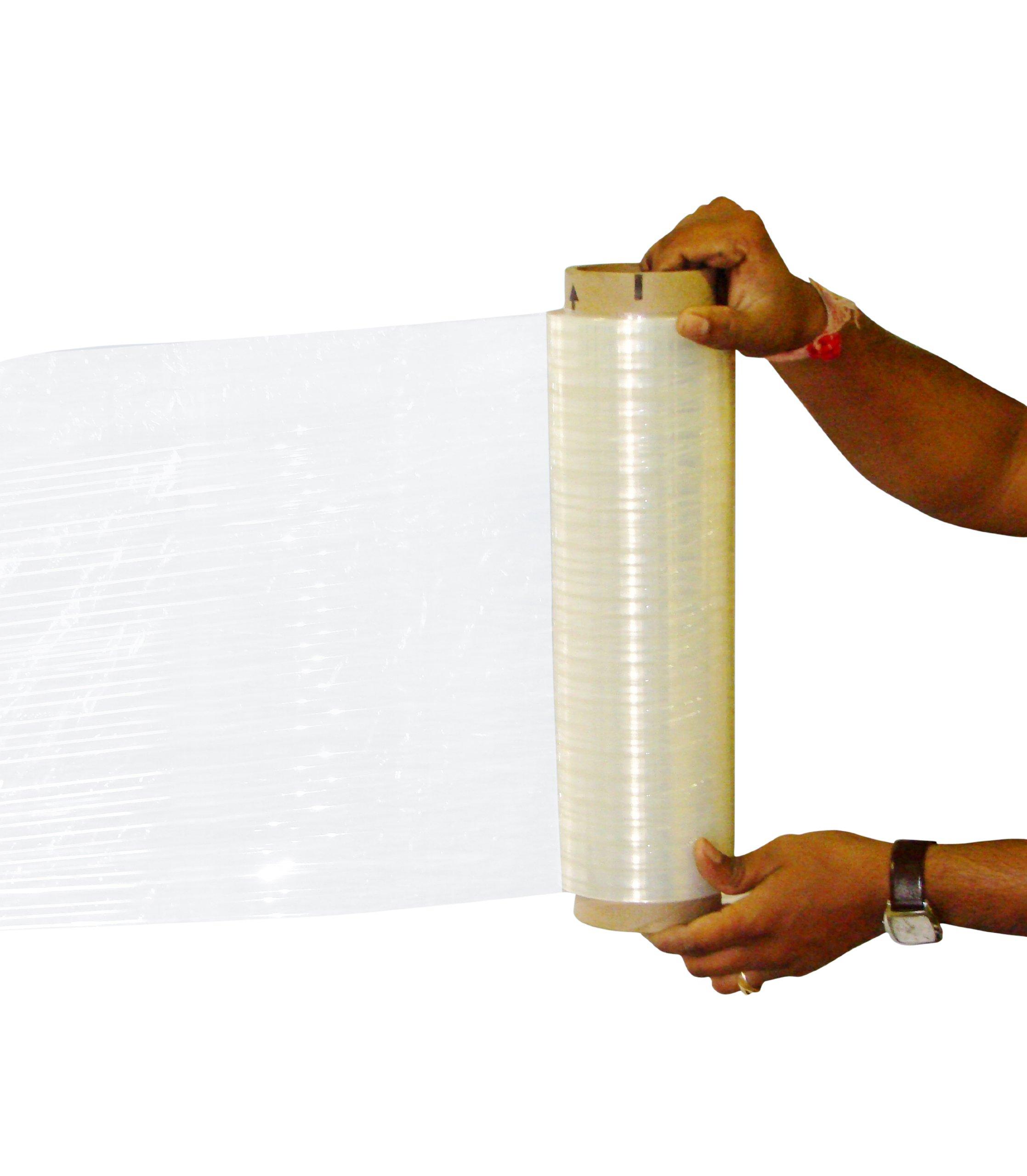 4 Rolls Hand Stretch Plastic Film Shrink Pallet Wrap 18'' X 1500 X 80 Ga by LEDwholesalers