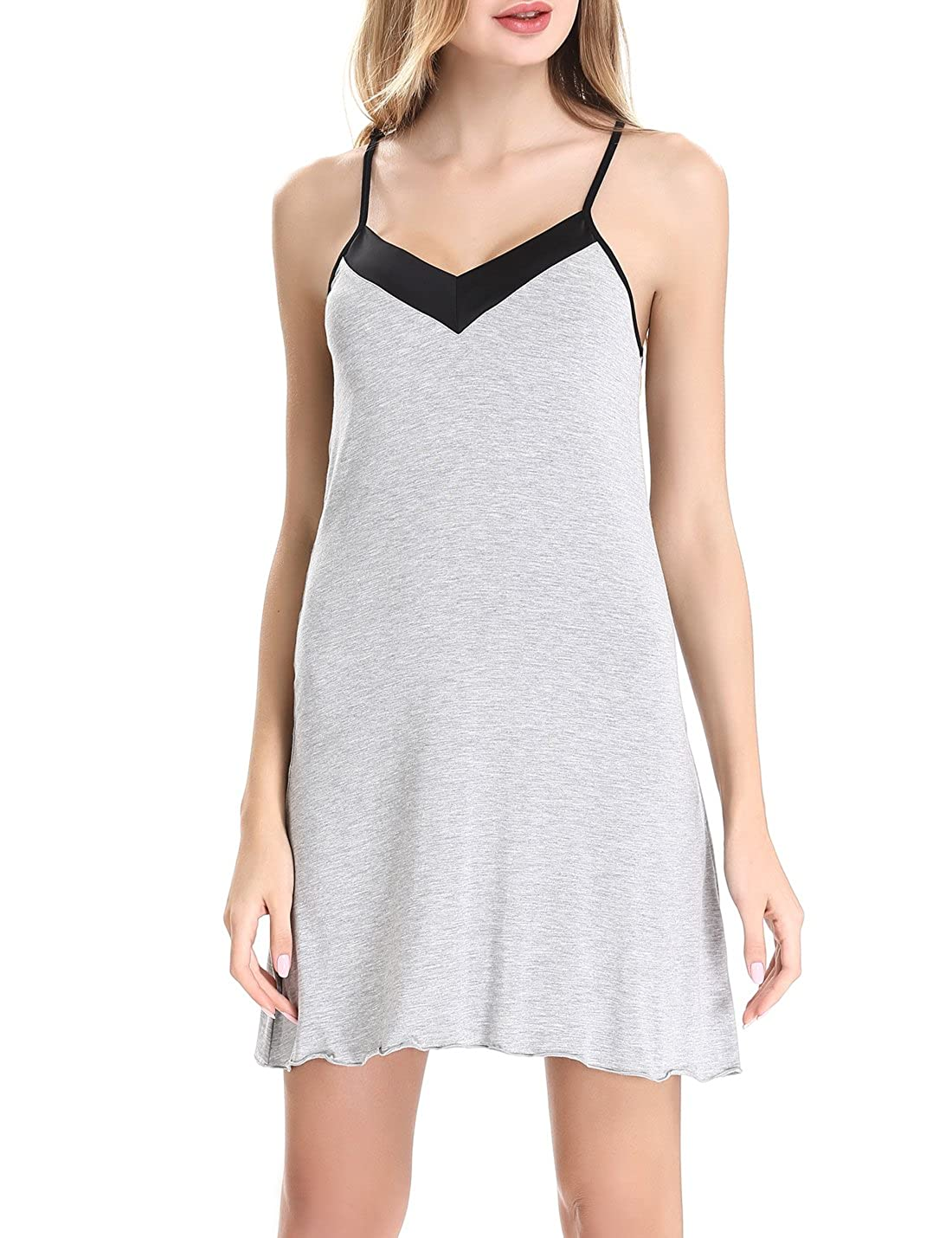 Womens cotton Chemise Sleepwear Slip Nightgown Sling Dress by NORA TWIPS(XS-XL) *OY013
