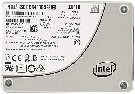 Intel DC S4500 Series   SSDSC2KB038T701   3 84TB SATA 6Gb/s 2 5
